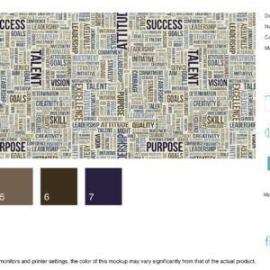 Word Walls - Executive - Blue Suede