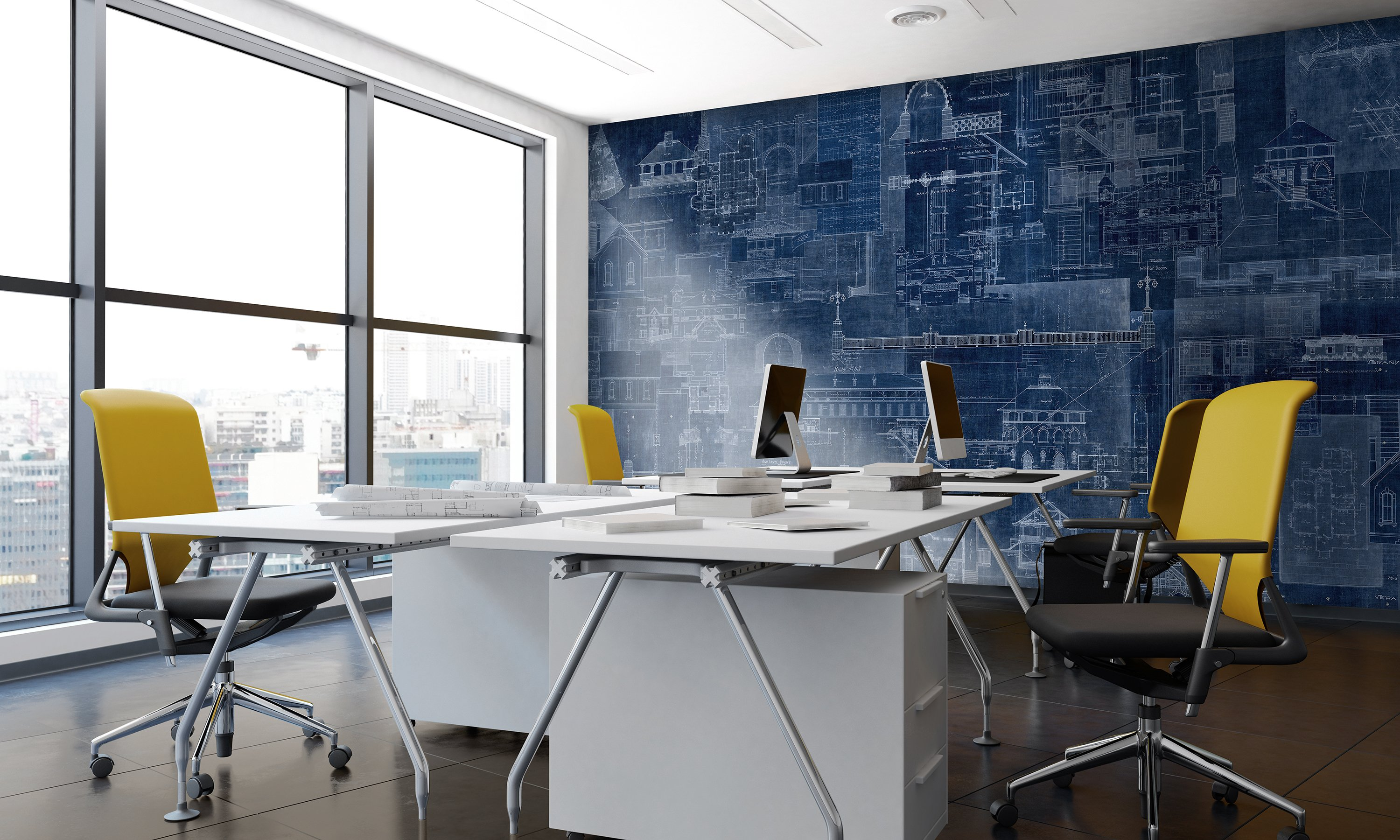 An architects dream check out our new digital wallcovering l60403 blueprint in cobalt malvernweather Gallery