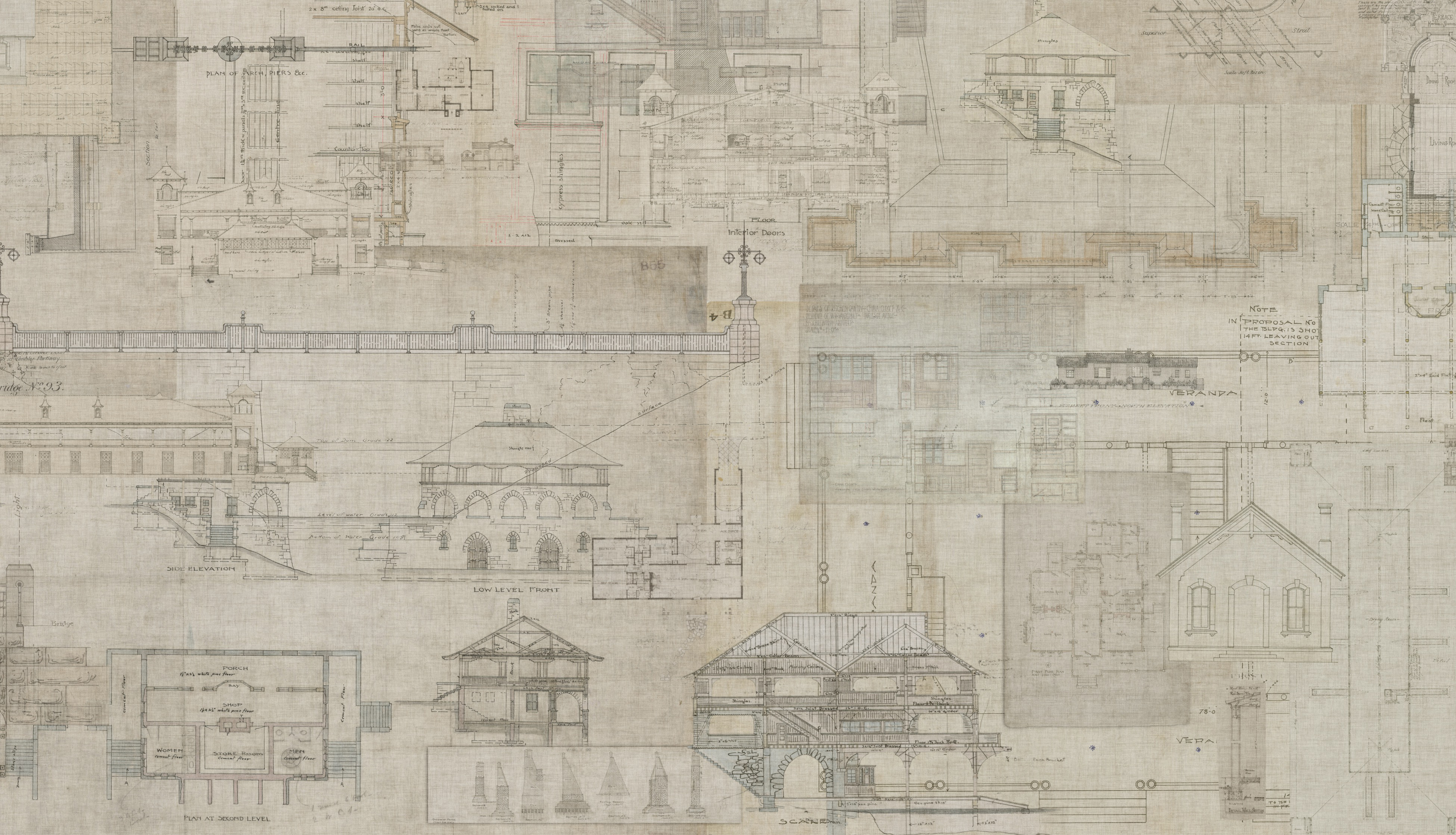 An architects dream check out our new digital wallcovering detail of l60402 blueprint in parchment malvernweather Images